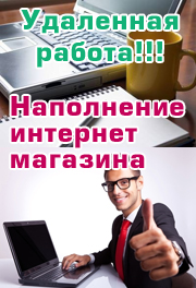 работа в интернет-магазине