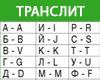 Транслитерация текста онлайн с русского на английский